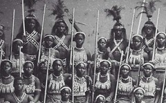 the-history-of-fighting: Dahomeys Warrior Women Speaking of West Africa, the Dahomey Warrior Women involves a fascinating history that spans nearly 200 years. It was during this time that the elite squad of female warriors fought and died for the border (medievalpoc) Tags: history women war europe very 1800s battle off week warriors but benin topic 1700s fascinating resources amazons slightly dahomey dahomeys
