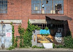 Art and Decay (brianlrodgers) Tags: street columbus ohio urban west building abandoned mural decay rich gentrification 614 cbus franklinton