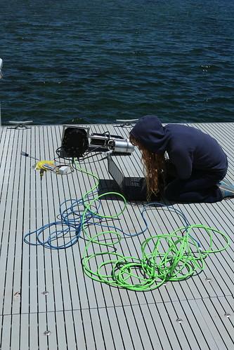 Antonella testing the stereo rig