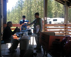 044 Marvin Collects The Data (saschmitz_earthlink_net) Tags: california download orienteering mtpinos 2014 lospadresnationalforest kerncounty epunch laoc losangelesorienteeringclub marvinjohnston mtpinosnordicbase