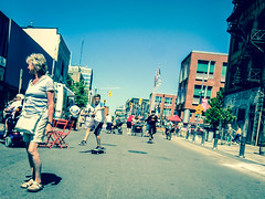 Skaters (Anestis_Papoutsis) Tags: road street summer sky people food ontario festival truck photography fuji awesome kitchener skaters skateboard kw xf1 fujixf1