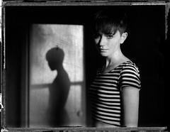 . (Sandy Phimester) Tags: shadow portrait blackandwhite film analog polaroid 180 dreamy fp3000b