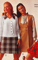 sears 69 fw brown and tan (jsbuttons) Tags: 1969 clothing mod 60s buttons sears womens catalog 69 sixties vintagefashion