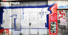STICK AROUND into the streets!!!! (2efs STICK AROUND!!! expo) Tags: street art real expo paste stickers first exhibition ups romania stick around bucharest