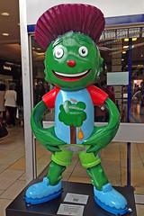 14 Clyde at Glasgow Queen Street Station outfit designed by Rhea Beattie (David Alexander Elder) Tags: street station clyde official glasgow 14 games queen mascot commonwealth rhea beattie 2014
