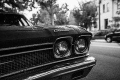 Chevelle (bionicteaching) Tags: bw detail classic car lights virginia unitedstates chevelle richmond grill