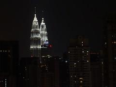 Les tours Petronas de nuit