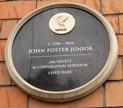 """City of Liverpool Heritage Plaque John Foster Junior • <a style=""""font-size:0.8em;"""" href=""""http://www.flickr.com/photos/9840291@N03/14652920070/"""" target=""""_blank"""">View on Flickr</a>"""