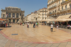 Place de la Comdie - Montpellier (France) (Meteorry) Tags: city summer people urban france fountain june square restaurant europe place egg montpellier t opra fontaine ville brasserie languedocroussillon 2014 hrault placedelacomdie comdie uf meteorry troisgraces montpel leyams monspessulgnus lecafriche