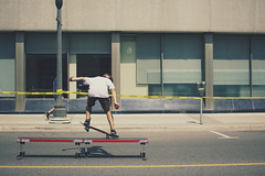 skateboarding at the hootenanny (viewsfromthe519) Tags: city summer people ontario canada kids ramp downtown afternoon skateboarding skating teenagers rail sunny ollie flip grind peterborough hootenannyonhunter