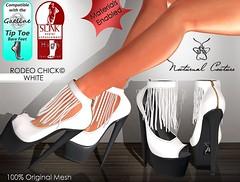 Rodeo Chick WHITE (Leyla / Luna) Tags: original feet dark high toe nocturnal mesh goth wing fair luna tip western heels productions couture closer slink gaeline