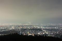 大文字からの夜景 (GenJapan1986) Tags: 2014 京都市 京都府 夜 夜景 大文字 大文字山 風景 日本 kyoto japan night landscape nikon1aw1 sky 空