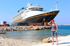 Disney Ship goes into my head (Magda Tudor) Tags: sea beach port island ship aegean greece grecia rodos rhodes overview hodes