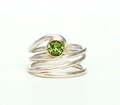 Peridot Ring (Rebecca Geoffrey) Tags: silver gold rebecca handmade ring metalwork geoffrey tourmaline peridot gemstone gemstonering