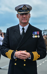 Naval Officer... (jamesduff686868) Tags: smart yellow official nikon military authority navy plymouth posture dressed officer medals armed