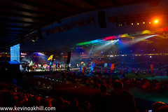 Commonwealth Games closing ceremony (www.kevinoakhill.com) Tags: park city blue costumes light men wonderful spectacular photography gold lights coast photo tents dance costume amazing fantastic women hand dancers kylie dancing fireworks photos glasgow pipes over ceremony australia games dancer tent end athletes bagpipes closing roar commonwealth hampden pipers deacon minogue 2018 handover