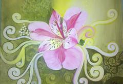 Alstromeria luz (Cristina M. Oliva) Tags: flores flower painting arte alstroemeria pintura alstromeria acrlico astromelia