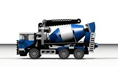 Beton Mixer (hajdekr) Tags: truck toy model automobile lego cement mixer camion vehicle beton moc ldd concretemixer myowncreation legodigitaldesigner legotoyline