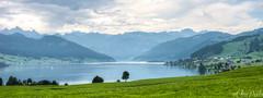 Hiking in Switzerland (ChiiPicts) Tags: lake mountains water switzerland hiking einsiedeln sihlsee