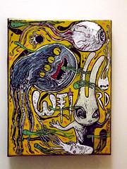 aleister 236 weird (mc1984) Tags: white rabbit yellow ojo weird canvas monsters darkside seas mc1984 aleister236