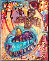 Angel Over Brazil (mondoexpressionism) Tags: painting rawart outsiderart expressionism artbrut naiveart visionaryart weirdart
