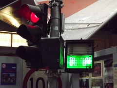 Traffic lights at the Gippsland Vehicle Collection (RS 1990) Tags: light neon traffic eagle australia melbourne pedestrian victoria collection button vehicle signal gippsland maffra