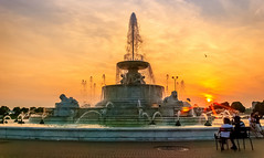 A Lovers Sunset [Explored] (Malena ) Tags: sunset michigan detroit belleisle scottfountain