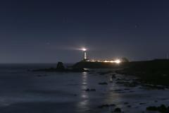 Pigeon Point Lighthouse [Explore 09/01/14] (Joe Parks) Tags: california lighthouse night stars point coast pigeon highway1 pescadero canon6d