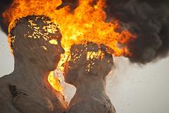 Embrace by The Pier Group - Burning Man 2014 (extramatic) Tags: usa man nv blackrockcity burning 2014caravanasary