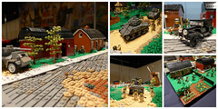 Operation Market Garden Collage ([Stijn Oom]) Tags: road bridge houses brick water windmill dutch yard america river de canal back arms lego tech flag albert nazi nazis shed will german american legos ww2 technique oom sherman tanks stijn chapman shermans colab hardenberg bouwsteen lowlug brickarms rebla brickizimo dutchlb
