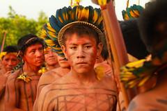 (Laercio Esteves) Tags: portrait indgenas cores amazon colorfull indian retratos jogos pintura corporal amazonia tradicionais ndios cocar marud povos etnias arawet