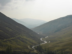 Allt a Ghlinne Mhoir, Mam nan Carn (Sarah A Christie) Tags: trees mountains misty river heather glen valley summits