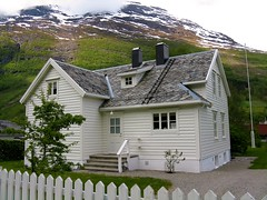 Tidy home in Olden, Norway (scarboroughcruiser) Tags: norway cunard que