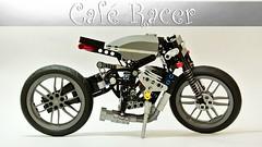 Four-cylinder Café Racer (hajdekr) Tags: bike lego motorbike technic motorcycle roadster legotechnic caféracer nakedbike legotoyline fourcylindercaféracer