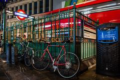 London   |   Tottenham Court Road (JB_1984) Tags: bicycle bike railing subway publicsubway tube underground londonunderground station centralline northernline movement motion blur tottenhamcourtroad westend cityofwestminster london england uk unitedkingdom nikon d7100 nikond7100 explore explored