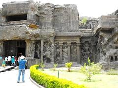 Ellora Caves, May 2012 (leonyaakov) Tags: buddha buddhist maharashtra cave hindu jain hindutemple aurangabad rockcut rockcarving hindustan ajantacaves eloracaves  marculescueugendreamsoflightportal stupawithstandingbuddha