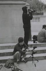 Kit + Liam (Casey Mark Brown) Tags: blackandwhite bw london film 35mm skateboarding pentax kodak grain skate portsmouth vans cheesey supreme petersfield nikesb sp500