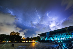 Thunder Battle (Shadow Kuo Photography) Tags: city storm night clouds lights nikon nightscape taiwan arena kaohsiung lightning thunder d7100