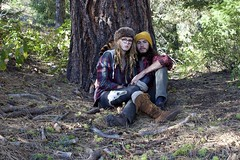 (AlexandraCaprice) Tags: portrait people mountain man mountains tree leather pine dreadlocks lady boots earth lovers dirt cap dreads moccasins teeki
