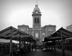 Chesterfield Market and Market Hall (Tony Worrall Foto) Tags: county england people architecture buildings place display market photos pics candid country visit location area land build built stalls chesterfieldmarket architecturephotographs 2014tonyworrall