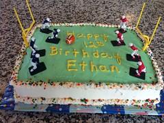 Football cake by Brenda, Santa Cruz, CA, www.birthdaycakes4free.com