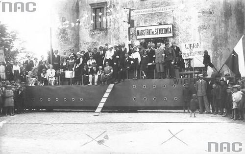 Rynek Wielki, obchody Święta Morza, 1933r. (NAC)