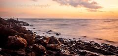 Long BeachHDR (Chrisseee) Tags: longexposure sunset evening fishing rocks longbeach kohlanta hdr goldenart