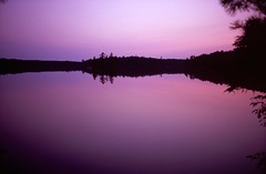 Twilight at Maggie Lake (mikeciv) Tags: contaxt3 fujirvp100