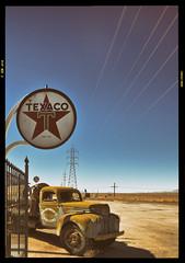 Texaco (murraycdm) Tags: sky nikon desert texaco mojavedesert 58 395 kramerjunction 1635mm d800e