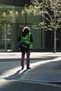 Sunny corner (Spannarama) Tags: street uk shadow sunlight man london sunshine standing bag moorlane ropemaker highvis