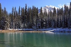 Lakeside (JB by the Sea) Tags: canada rockies mirrorlake alberta banff rockymountains lakelouise banffnationalpark canadianrockies september2014
