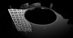 black hole (anti_data) Tags: street city urban blackandwhite bw chicago abstract reflection monochrome dark fuji fujifilm xseries xt1