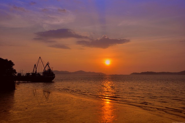An evening at Victoria Point, Ranong, Thailand.