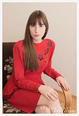 Steinunn Rún (SteinaMatt) Tags: ferming steinunnrãºnjakobsdã³ttir steinunn matthíasdóttir ljósmyndun steinamatt photography steina matt confirmation fermingarmyndataka girl red dress portrait portrett